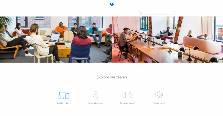 Dropbox employee branding website