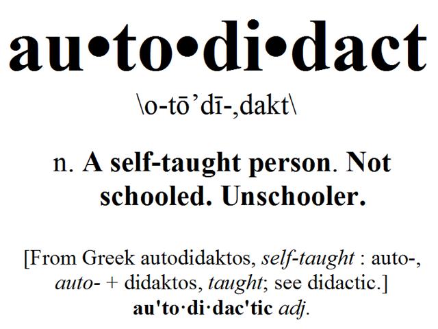 Autodidact betekenis